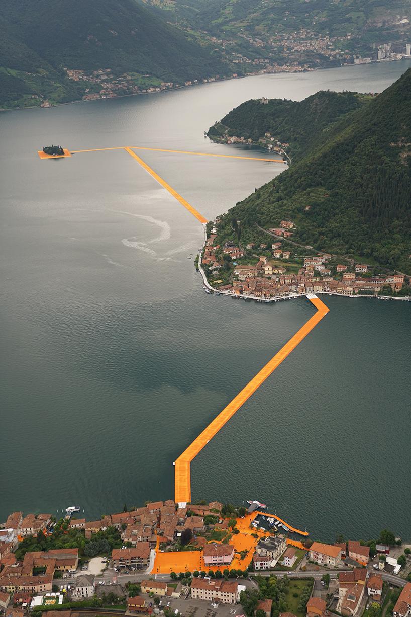 christo-and-jeanne-claude-floating-piers-lake-iseo-italy-designboom-04 Plutajuće platforme na jezeru Iseo