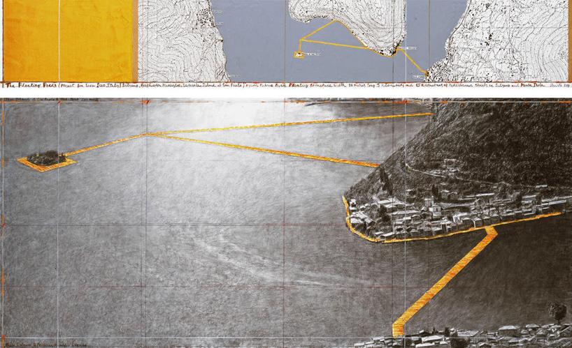 christo-italy-lake-iseo-golden-floating-pier-project-designboom-01 Plutajuće platforme na jezeru Iseo