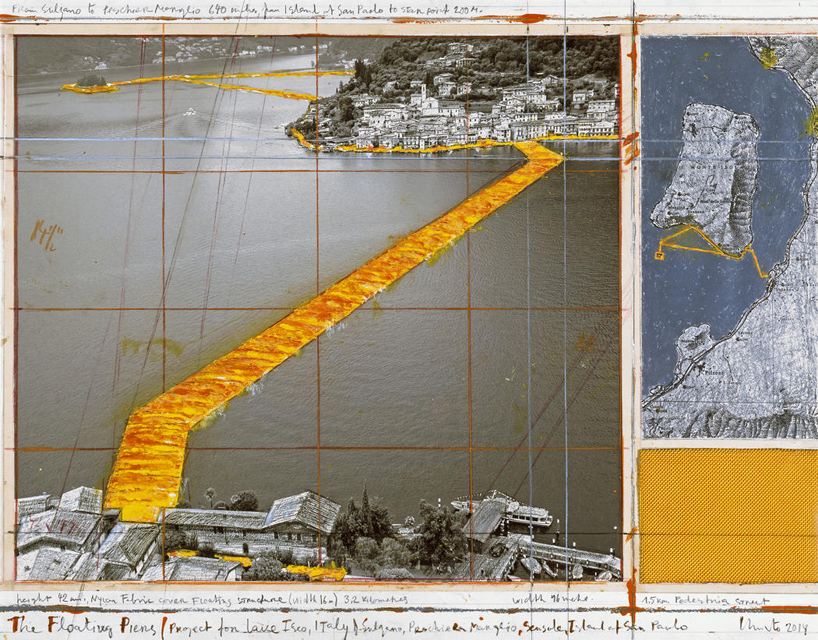 christo-italy-lake-iseo-golden-floating-pier-project-designboom-05 Plutajuće platforme na jezeru Iseo