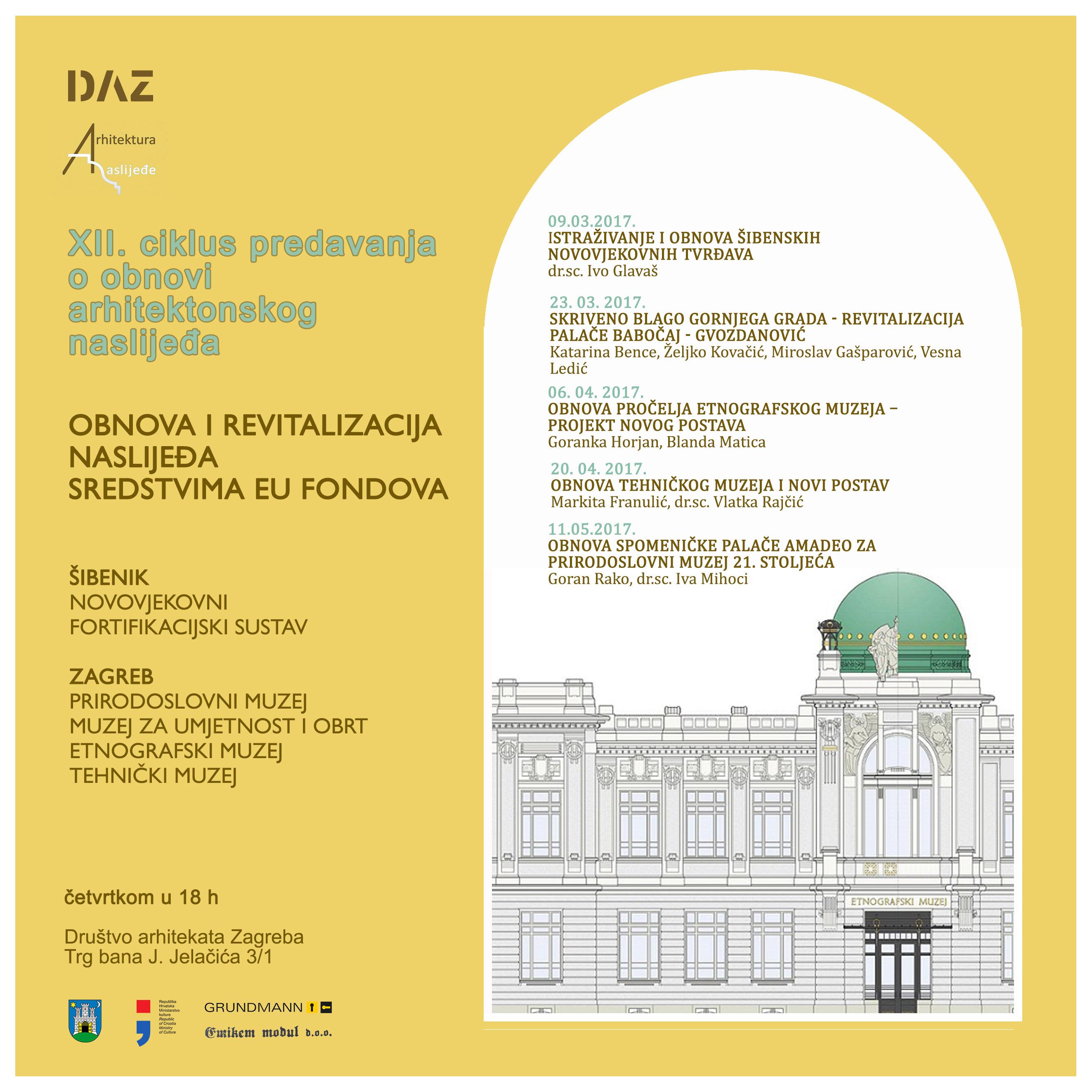 plakat-web Istraživanje i obnova šibenskih novovjekovnih tvrđava